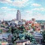 View of Camden with City Hall,  Oil on canvas 32 x 50,  Rutgers University Collection