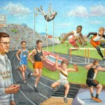 Coach Braun, Oil on Canvas, Special Collection, Latrobe School District