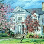 "Old House in  Collingswood II,  Oil on panel 19"" x  25"",  Private Collection"