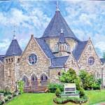 Covenant Presbyterian Church, Oil on Canvas, 20 x 30