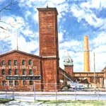Howland Croft, Sons & Co.(Linen Worsted Mills),  Oil on panel 20 x 26,  Private Collection