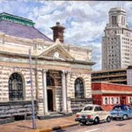 Equitable Life Building, 4th & Federal-Camden,  Oil on panel 18 x 24,  Private Collection