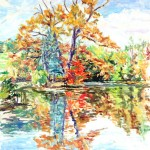 Conference Pond in Fall, Casein