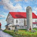McKleven Farm.  Oil on Panel 20 x 31