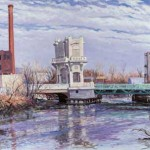 Federal Street Bridge in Winter,  Oil on Canvas 34 x 48,  Private Collection