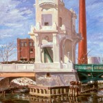 Federal Street Bridge Under Repair,  Oil on canvas 46 x 34,  Private Collection