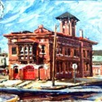 Fire House #6,  Oil on panel 10 x 12,  Collection: Rutgers University