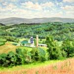 Marker Farm from Bethlen Home, Oil on panel