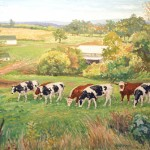 Frye-Weaver Cattle,  Oil on Canvas 8 x 10 Private Collection