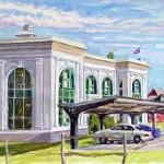 Ligonier Rail Station I, Oil on paper 15 x 19