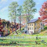 Goat Ladies Farm II, Chester PA, Oil on canvas,  30 x 48