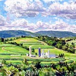 Marker Farm (Summer) I  Oil on canvas 16 x 38 Private Collection