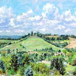 View from Hillside Drive I,  Oil on panel 14 x 20 Private Collection