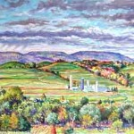Marker Farm (Fall) I,  Oil on Canvas 22 x 36,  Private Collection