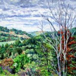 View from Hillside Drive,  Oil on panel 16 x 19