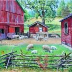 Ray Kinsey Farm IV, Oil on canvas, 34 x 48