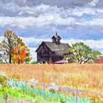 "New Jersey Farm II,  Oil on Paper 10"" x 14"",  Private Collection"