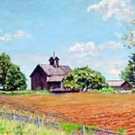 "New Jersey Farm I,  Oil on Panel 12"" x  20"",  Private Collection"