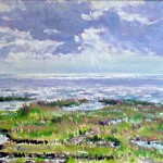 "Jersey Shore Marsh,  Oil on Panel,  11"" x 18""  Private Collection"