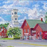 Johnston, CT, Casein 18 x 24, Private Collection