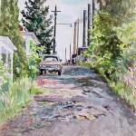Kathryn Street Extension, Watercolor