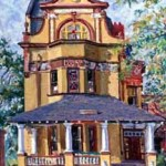 KSU Fraternity House,  Oil on panel 24 x 18,  Private Collection