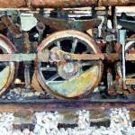 "Kevin Kutz  Trio  Oil on board  20"" x  36"""