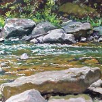 Loyalhanna Creek IV,  Casein on board 15 x 20 Private Collection