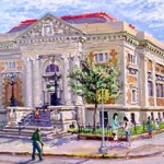 Camden Free Public Library,  Oil on panel 18 x 24,  Private Collection