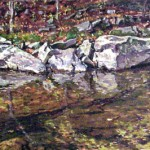 Loyalhanna Creek II,  Formerly On Loan:US Department of State, Uruguay Embassy,  Oil on panel 12 x 18,  Private Collection