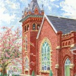 St. James Luthern Church,  Oil on Panel