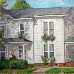 Clark House, Main Street, Oil on canvas, 20 x 30. Private Collection