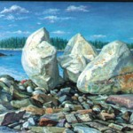 Thorndike Rock in Maine,  Oil on canvas 36 x 54, Private Collection