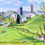 Marker Farm (Spring) I,  Oil on panel 15.5 x 20 Private Collection