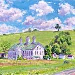 Shirey Farm,  Casein on board 14 x 19, Private Collection