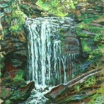 Falls (Catskills),  Casein 15 x 20