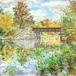 "Newton Creek, NJ, Oil on canvas 30"" x  30"", Private Collection"