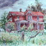 Old Farm House, Watercolor, Private Collection
