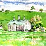 Shirey Farm, Watercolor, Private Collection