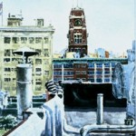 Rooftop with RCA Tower,  Watercolor 14 x 11,  Private Collection