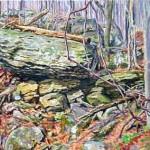 Loyalhanna Gorge Rocks, Oil on Panel 13 x 15