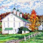 Shirey Farm, Fall,  Oil on panel