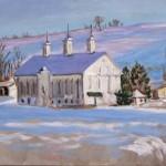 Shirey Farm in Winter I,  Oil on canvas 11 x 14 Private Collectiuon