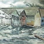 "Ray Simboli Sturgeon Bay Door County, Wisconsin Watercolor 22"" x 31"""