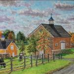 Stone Gate Farm 2016, Oil on panel, 16 x 20