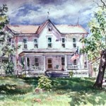 Uncle Earl's Farmhouse, Watercolor18 x 24, Private Collection