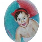 Vivian, Seven Months, Oil on canvas 8 x 10