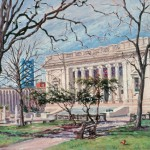 Walt Whitman Center,  Oil on panel 18 x 24,  Private Collection