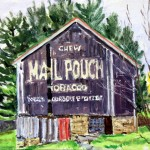 Mail Pouch, 2004     Oil on panel, 8 x 10, Private Collection