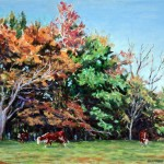 Wayne's Meadow, Fall, 2003     Oil on panel, 10 x 12 Private Collection